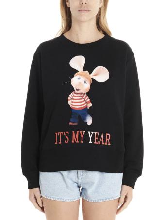 Alberta Ferretti 'topo Gigio It's My Year' Sweatshirt
