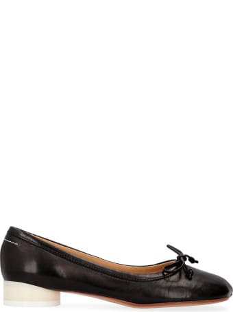 MM6 Maison Margiela Leather Ballet Flats