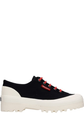 Superga Warmcotton Sneakers In Black Canvas