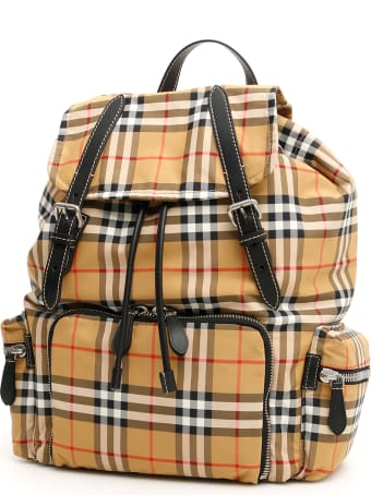 Burberry Large Rucksack In Vintage Check