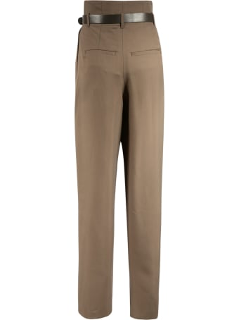 Les Coyotes De Paris Belted Straight Trousers