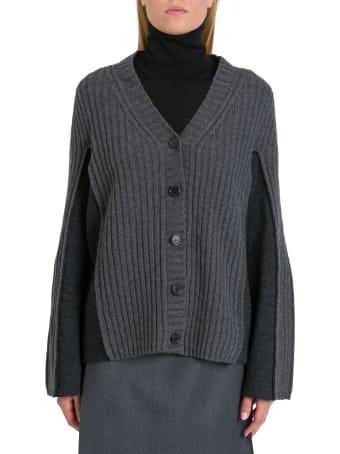 Maison Margiela Contrast Panelled Sleeve Cardigan