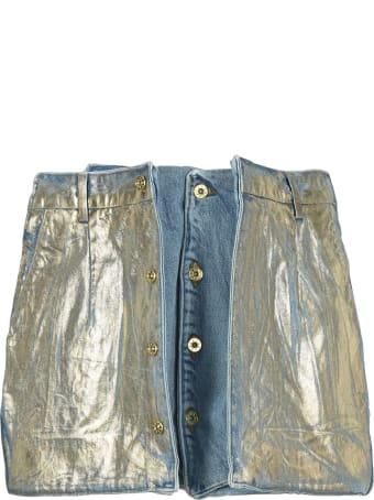 Y/Project Pop Up Metallic Sheen Mini Skirt