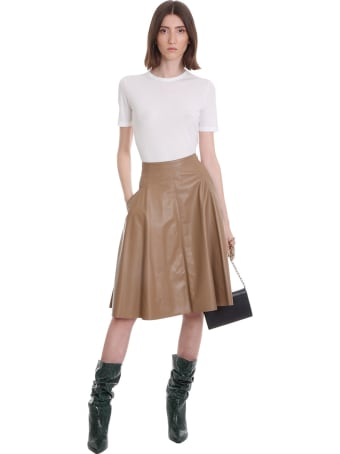 DROMe Skirt In Brown Leather