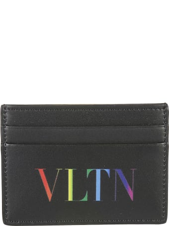 Valentino Garavani Logo Print Credit Card Holder