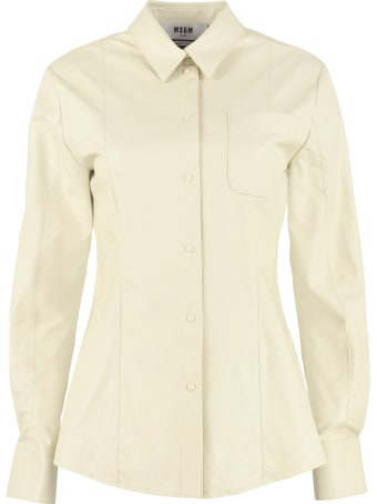 MSGM Faux Leather Shirt