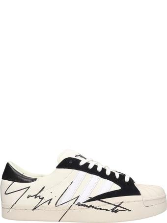 Y-3 Yohji Star Sneakers In White Leather