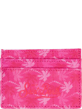 MC2 Saint Barth Card Holder With S Barth Fucsia  Monogram