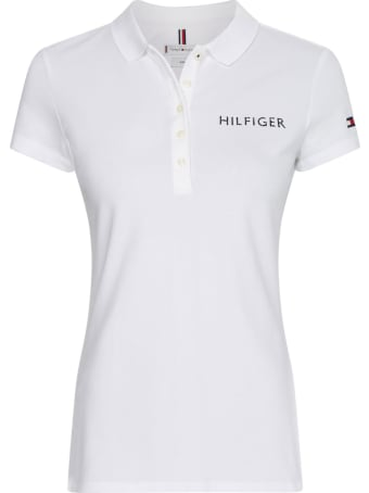 Tommy Hilfiger Polo Shirt With Logo In White Cotton