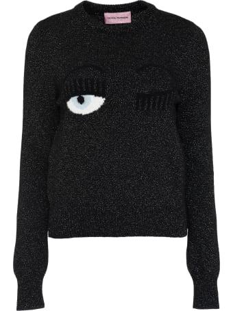 Chiara Ferragni Flirting Intarsia Lurex Sweater