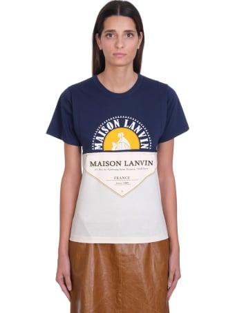 Lanvin T-shirt In Blue Cotton