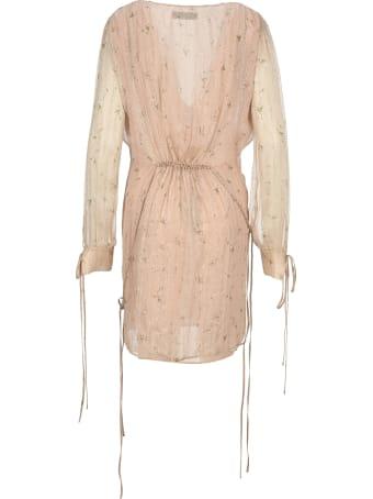 AMIRI Floral Print Chiffon Dress