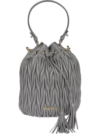 Miu Miu Logo Bucket Bag