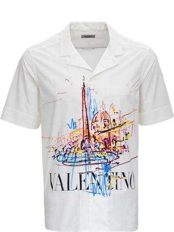 Valentino Short-sleeved Jersey Shirt With Logo Print