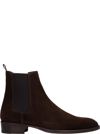 Marc Ellis Ankle Boots In Brown Suede
