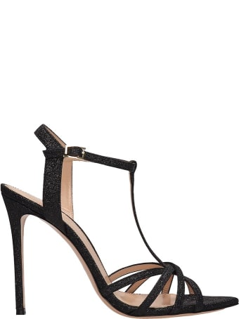 Lerre Black Glitter Sandals