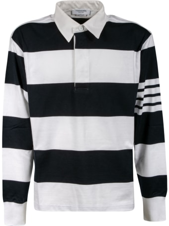 Thom Browne Oversized Long Sleeve Rugby Polo Shirt