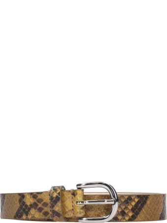 Isabel Marant Zap Belts In Grey Leather
