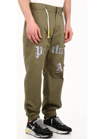 Palm Angels Cargo Pants Green