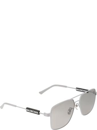 Balenciaga Silver Tag Navigator Woman Sunglasses