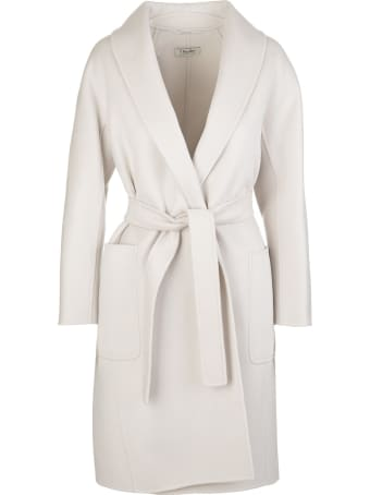 Max Mara White Alicia Coat