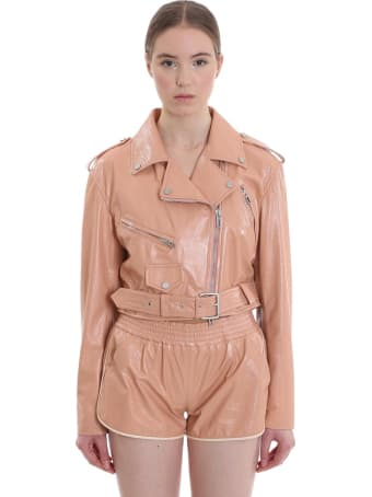 DROMe Leather Jacket In Rose-pink Leather
