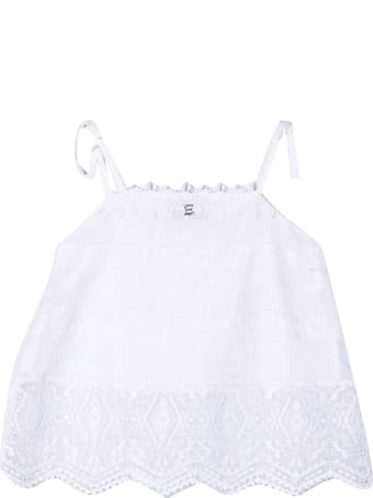 Ermanno Scervino Junior Tank Top With Embroidery