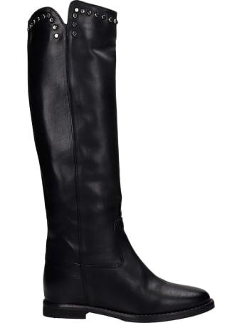 Julie Dee In Black Leather