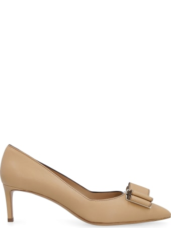 Salvatore Ferragamo Zaia Leather Pointy-toe Pumps