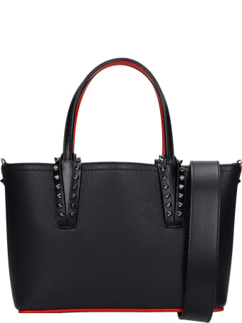 Christian Louboutin Cabata Mini Tote In Black Leather