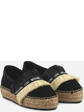 Love Moschino Espadrilles With Upper Fringed Detail