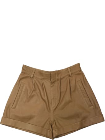 Federica Tosi Brown Leather Shorts