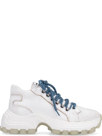 Miu Miu Maxi Sole Leather Sneakers