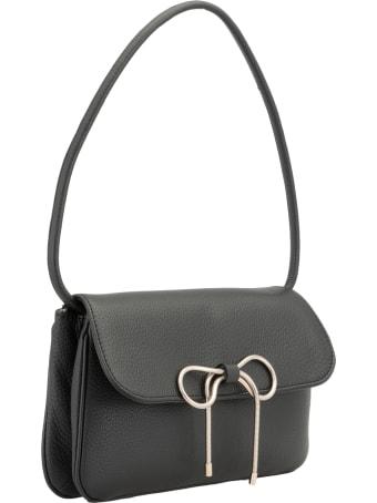 RED Valentino Pebbled Leather Shoulder Bag