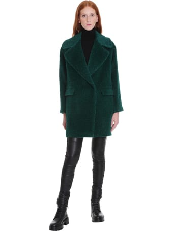 Tagliatore 0205 Astrid Coat In Green Wool