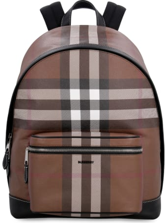 Burberry Checked E-canvas Backpack