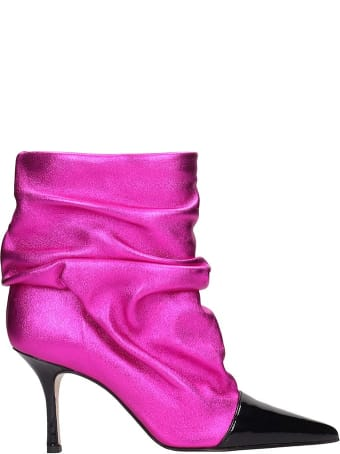 Marc Ellis High Heels Ankle Boots In Fuxia Leather