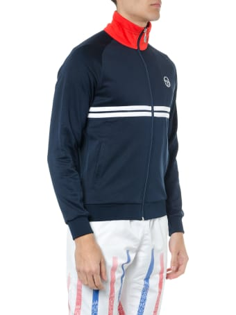 Sergio Tacchini Navy Blue Technical Fabric Knitwear