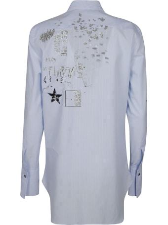 Ermanno Scervino Embellished Stripe Shirt