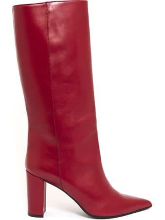 Aldo Castagna Iris Boot In Red Leather
