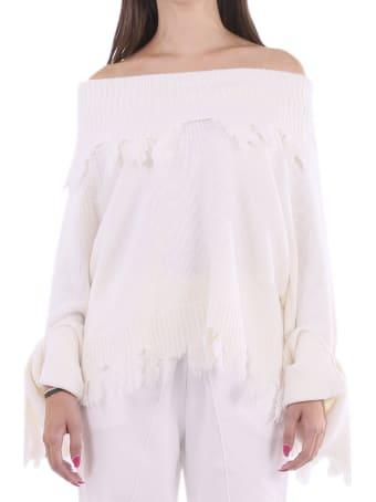 Ianua White Rosa Sweater
