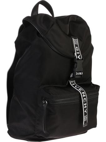 Givenchy Black Branded Backpack