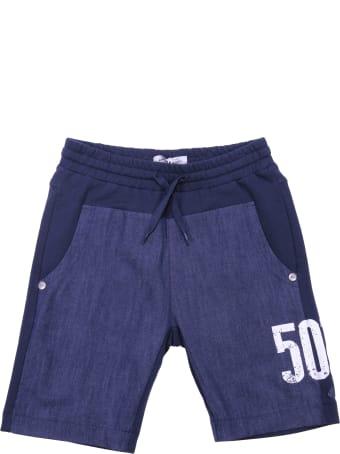 John Galliano Blue Cotton Shorts