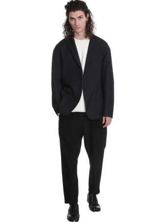 Attachment Blazer In Black Wool