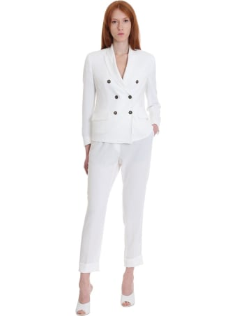 Brag-Wette Blazer In White Tech/synthetic