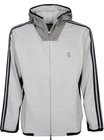 Brunello Cucinelli Stripe Detail Zipped Jacket