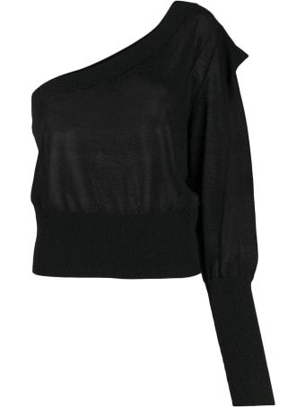 Federica Tosi Black One-shoulder Sweater