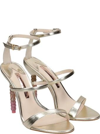 Sophia Webster Rosalinf Sandals In Gold Leather