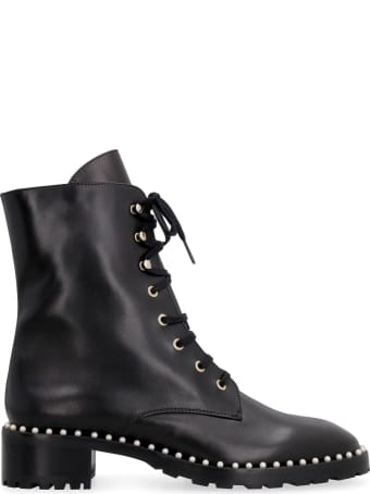 Stuart Weitzman Allie Leather Combat Boots
