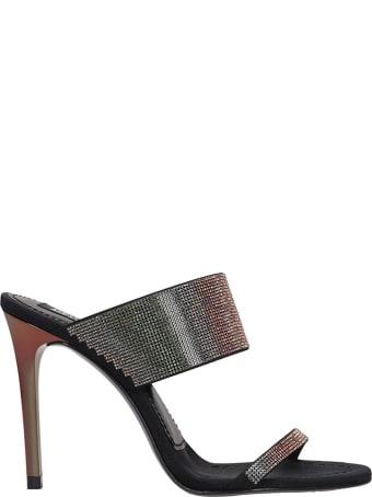 Pedro Garcia Camelia Sandals In Black Leather